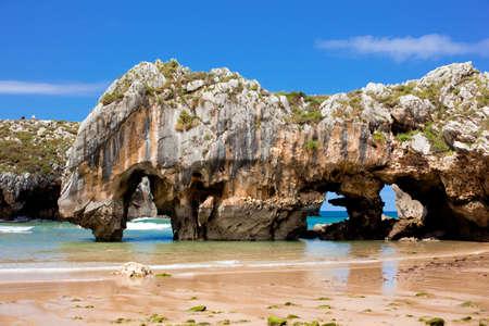 Beach of Cuevas del Mar, Nueva de Llanes - Asturias in Spain