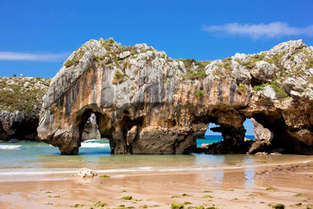 Beach of Cuevas del Mar, Nueva de Llanes - Asturias in Spain