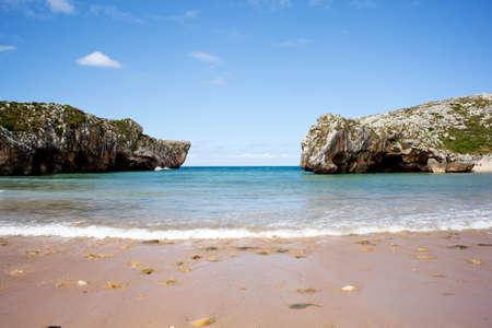 Beach of Cuevas del Mar, Nueva de Llanes - Asturias in Spain Stock Photo - 9748203