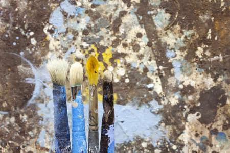 opera d 'art: Paintbrushes on a picture