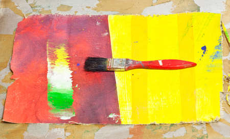 opera d 'art: Paintbrush on a picture