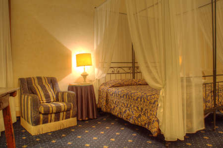 Bed in an albergue room photo