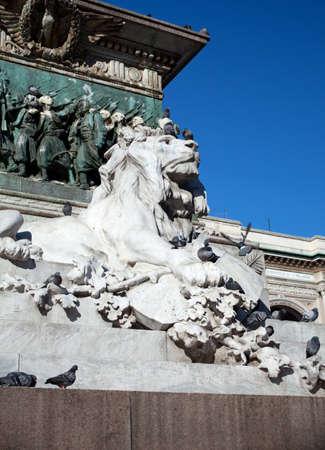 vittorio emanuele: Lion of the Vittorio emanuele II monument, Milan