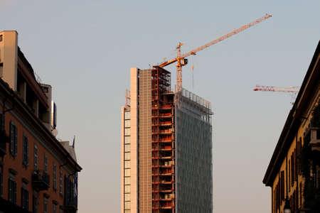 Construction site, Milan photo