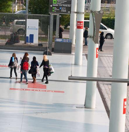 People walking photo