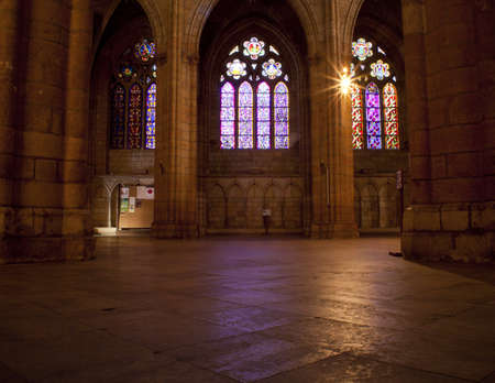 castle interior: Interior of the Leons cathedral