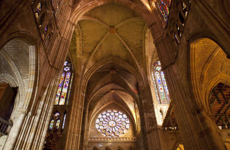Interior of the Leon's cathedral