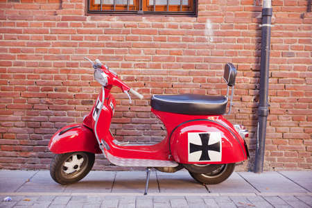 moped: Vespa, italian scooter Stock Photo