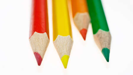 stationery items: Colorful pencils  Stock Photo