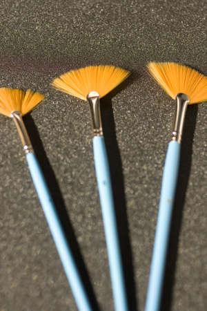 Fan-shaped brushes photo