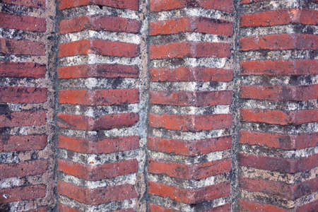 costruction: Wall brick of an ancient costruction in Gijon - Asturias