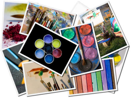 Colors postcards Banque d'images