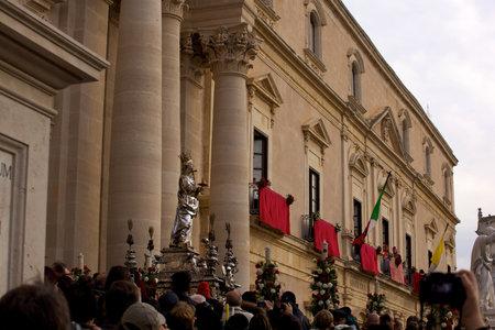 procession: Procesi�n de Santa Luc�a, Siracusa