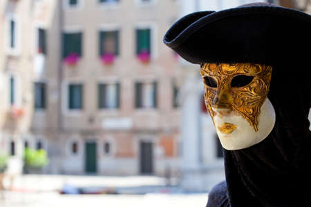 three cornered: A typical Venice carnival mask Stock Photo
