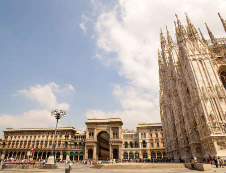 vittorio emanuele: View of the Milan cathedral and Vittorio Emanuele gallery Editorial