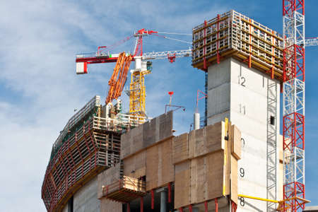 andamios: Sitio de construcci�n Foto de archivo