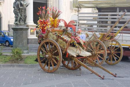 palermo: Characteristic Sicilian Oxcart