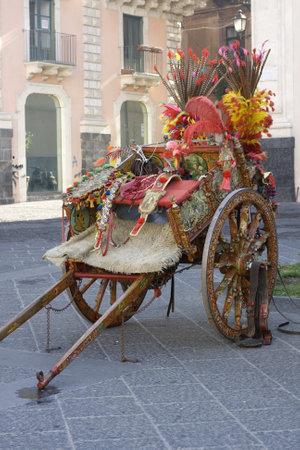 folkloristic: Characteristic Sicilian Oxcart