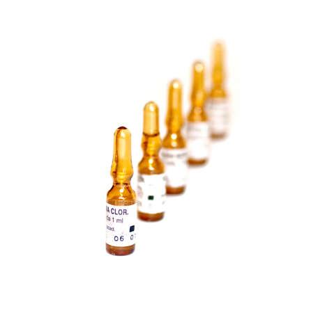 Ampullen, Medizin Standard-Bild