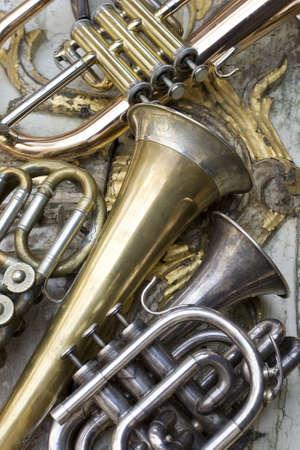 fanfare: Trumpets Stock Photo