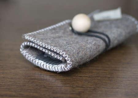 Wool felt purse photo