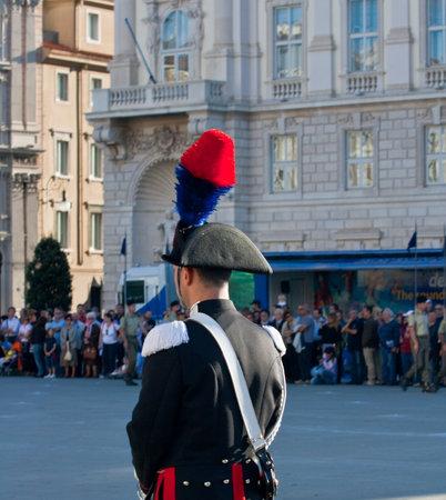 Italian policeman with plume