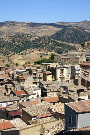 View of Leonforte, Enna - Sicily photo