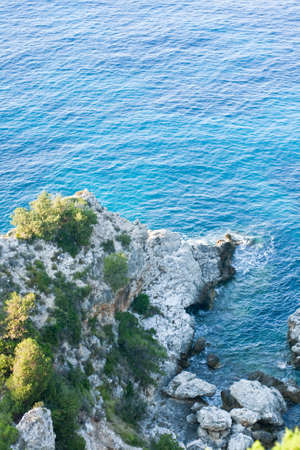 kefalonia: Platia Amos, Kefalonia, Greece Stock Photo