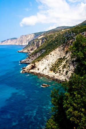 Céphalonie côte, la Grèce