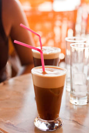 blended: Blended cold coffee drink