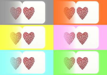 Hearts postcards photo