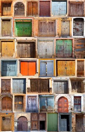 Türen-Satz Standard-Bild