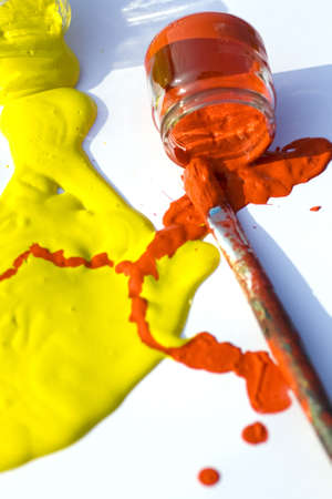 artifice: Yellow and red colors Stock Photo