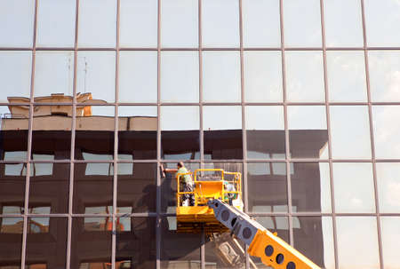 Men cleaning building Stock Photo - 10207928