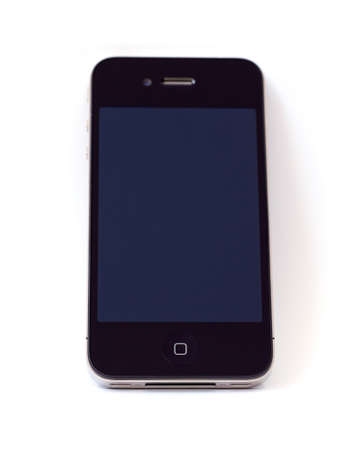 Smart phone isolated on a white background Editorial