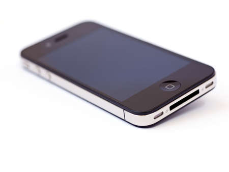 Smart phone isolated on a white background 新聞圖片