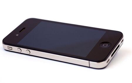 Intelligentes Telefon auf weißem Hintergrund isoliert