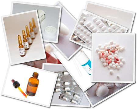 Cartes postales de médecine Banque d'images