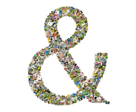 Letter Ampersand, photos collage  photo