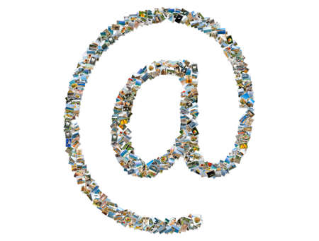 assemblage: Email symbol