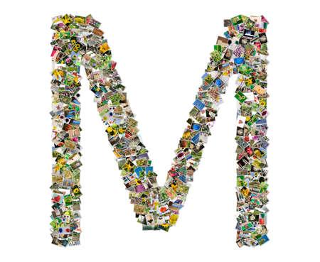 letra m: Letra M Foto de archivo