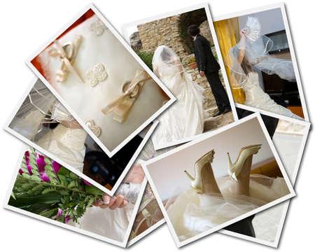 Hochzeitsfotos Collage