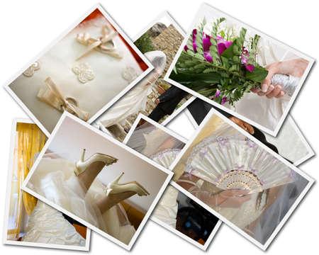 Photos de mariage de collage Banque d'images