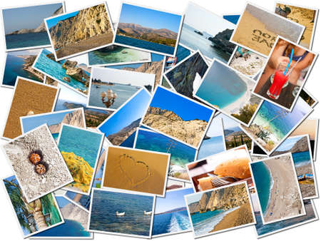 holidays vacancy: Sea life photo collage