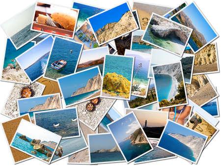 vacante: La vida marina de collage de fotos