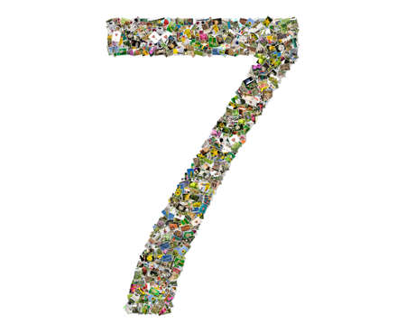 number seven: Number seven Stock Photo