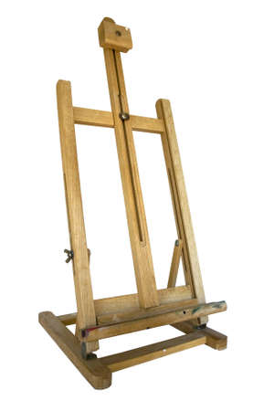 Easel isolated on a white background photo