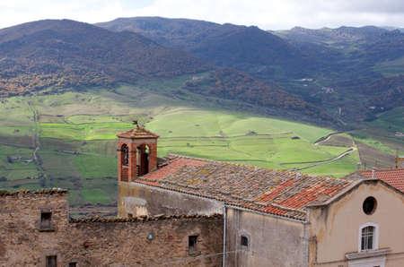 View of Sperlinga, Sicily - Italy Stock Photo - 10584526