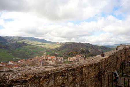 View of Sperlinga, Sicily Stock Photo - 10585093