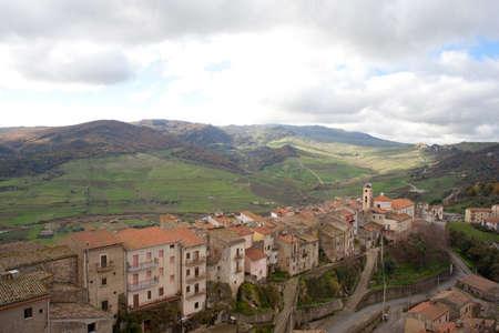 View of Sperlinga, Sicily Stock Photo - 10585094